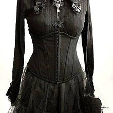 Šaty - Čierny gotický korzet - 11176830_