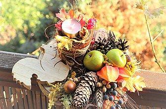 Dekorácie - Jesenný aranžmán - 11175727_