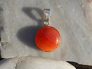 Náhrdelníky - orange karneol agata-in silver - 11177093_
