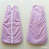 Textil - VLNIENKA Spací vak pre deti a bábätká ZIMNÝ 100% MERINO na mieru BODKA staroružová - 11176546_