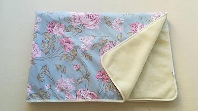 Úžitkový textil - Deka/ prikrývka 100% Merino TOP a 100% bavlna LUX PIVOŇKA MINT BLUE 140 x 210 cm - 11175316_