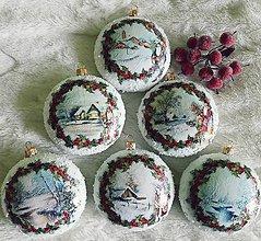Dekorácie - Vianočné medailóny - Romantická zima - 11175710_
