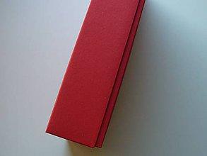 Krabičky - vianočná červená so zlatým vnútrom - 11175078_