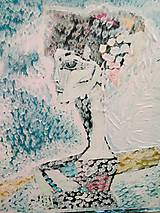 Obrazy - Pink lady... - 11174704_