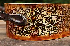Nádoby - Forma na pečenie chleba - medové slnko - oválna dlhá - 11175506_