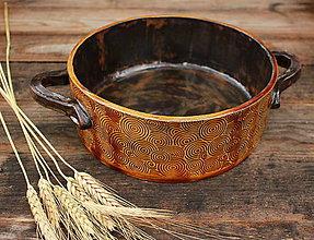 Nádoby - Forma na pečenie chleba - medové slnko - okrúhla - 11175500_