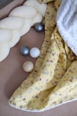 Textil - Minky deka Žltokvet, 100x70cm - 11173350_