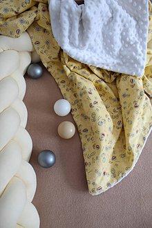 Textil - Minky deka Žltokvet, 100x70cm - 11173349_