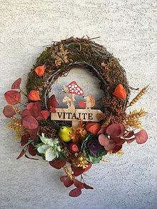 Dekorácie - Veľký jesenný veniec na dvere - 11177235_
