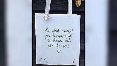 Iné tašky - ♥ Plátená, ručne maľovaná taška ♥ - 11175284_