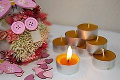 Svietidlá a sviečky - Čajová sviečka - 11173854_