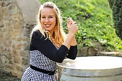 Šaty - ŠATY AMÉLIE BLACK & WHITE - 11174196_