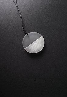 Náhrdelníky - pure // steel // circle small - 11176723_