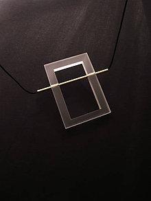 Náhrdelníky - pure // brass // rectangle - 11176765_