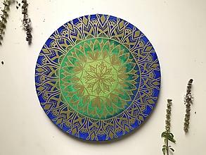 Kresby - Mandala na kruhovom plátne (sick) - 11176915_