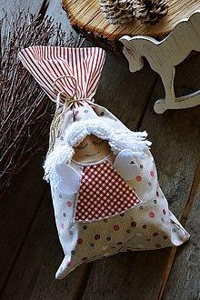 Úžitkový textil - Mikulášske vrecko / vrecúško - anjel / anjelik - 11173798_