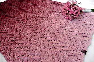 Textil - Jemnučká a ľahká  detská deka ombre - 11175626_