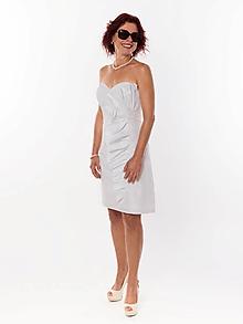 Šaty - ZNÍŽENÁ CENA elegantné šaty s volánom - 11175512_