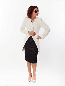 Kabáty - ZNÍŽENÁ CENA kabát inšpirovaný vlnami - 11176077_