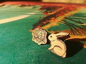 Náušnice - Zajac a kapusta - 11175427_