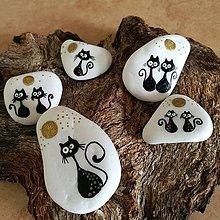 """Dekorácie - Maľovaný kameň """"Cica-Mica"""" - 11175188_"""