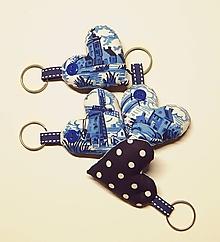 Kľúčenky - Prívesky na kľúče - modré s obrázkami - 11176641_