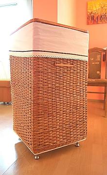 "Košíky - Škoricový prádlový kôš ""AHA"" - 11175850_"
