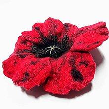 Odznaky/Brošne - Kvet divého maku - brošňa - 11174274_
