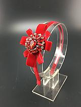 Ozdoby do vlasov - Red Heart ... čelenka - 11179901_