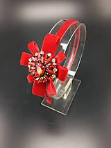 Ozdoby do vlasov - Red Heart ... čelenka - 11179902_