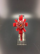 Ozdoby do vlasov - Red Heart ... čelenka - 11179972_