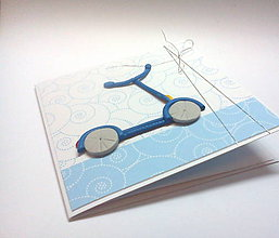 Papiernictvo - Pohľadnica ... kolobežka - 11179341_