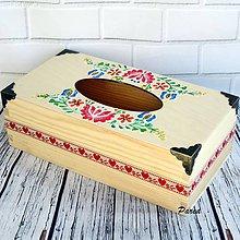 Krabičky - Krabica na vreckovky -ornamentika - 11180826_