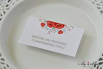 Papiernictvo - Pozvanie k svadobnému stolu Maky - 11178905_
