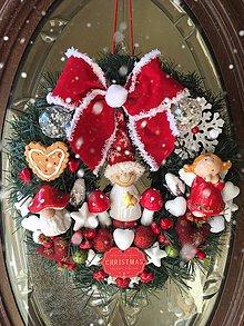 Dekorácie - Vianočný veniec - 11179626_