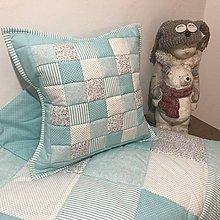 Úžitkový textil - moderná  mentolová kombinácia - 11181092_