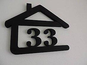 Dekorácie - Číslo na dom v domčeku - 11179010_