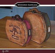Krabičky - Sada 3 drevených kufrov na maličkosti - 11178508_