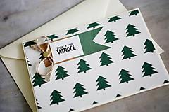 Papiernictvo - Vianočná pohľadnica - 11178304_