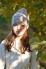Detské čiapky - v běžových - 11178183_