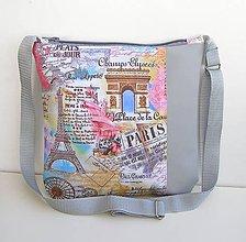 Kabelky - Sivá kabelka Paríž - 11179673_