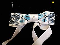 Doplnky - bielo-modrý - 11180733_