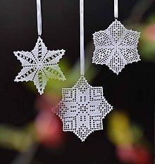 Dekorácie - Vianočná ozdoba tri hviezdy - 11180569_