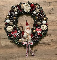 Dekorácie - Vianočný veniec na dvere 🌲 - 11180501_