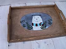 Nádoby - Maľovaná tácka s medvedíkom - 11178899_