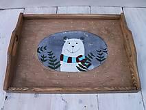 Nádoby - Maľovaná tácka s medvedíkom - 11178900_