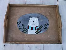 Nádoby - Maľovaná tácka s medvedíkom - 11178901_