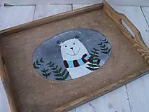 Nádoby - Maľovaná tácka s medvedíkom - 11178903_