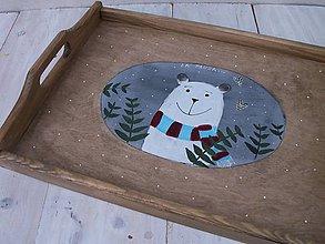 Nádoby - Maľovaná tácka s medvedíkom - 11178902_