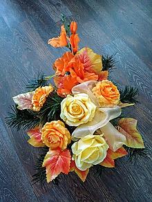 """Dekorácie - Smútočná ikebana na hrob """"jesenná"""" - 11180503_"""